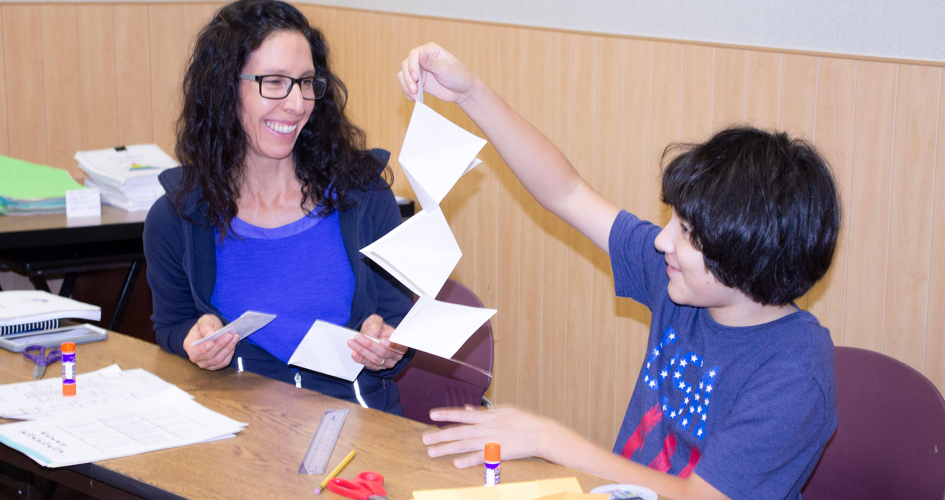 Homeschooling mother and son participate in Horizon Family Workshop