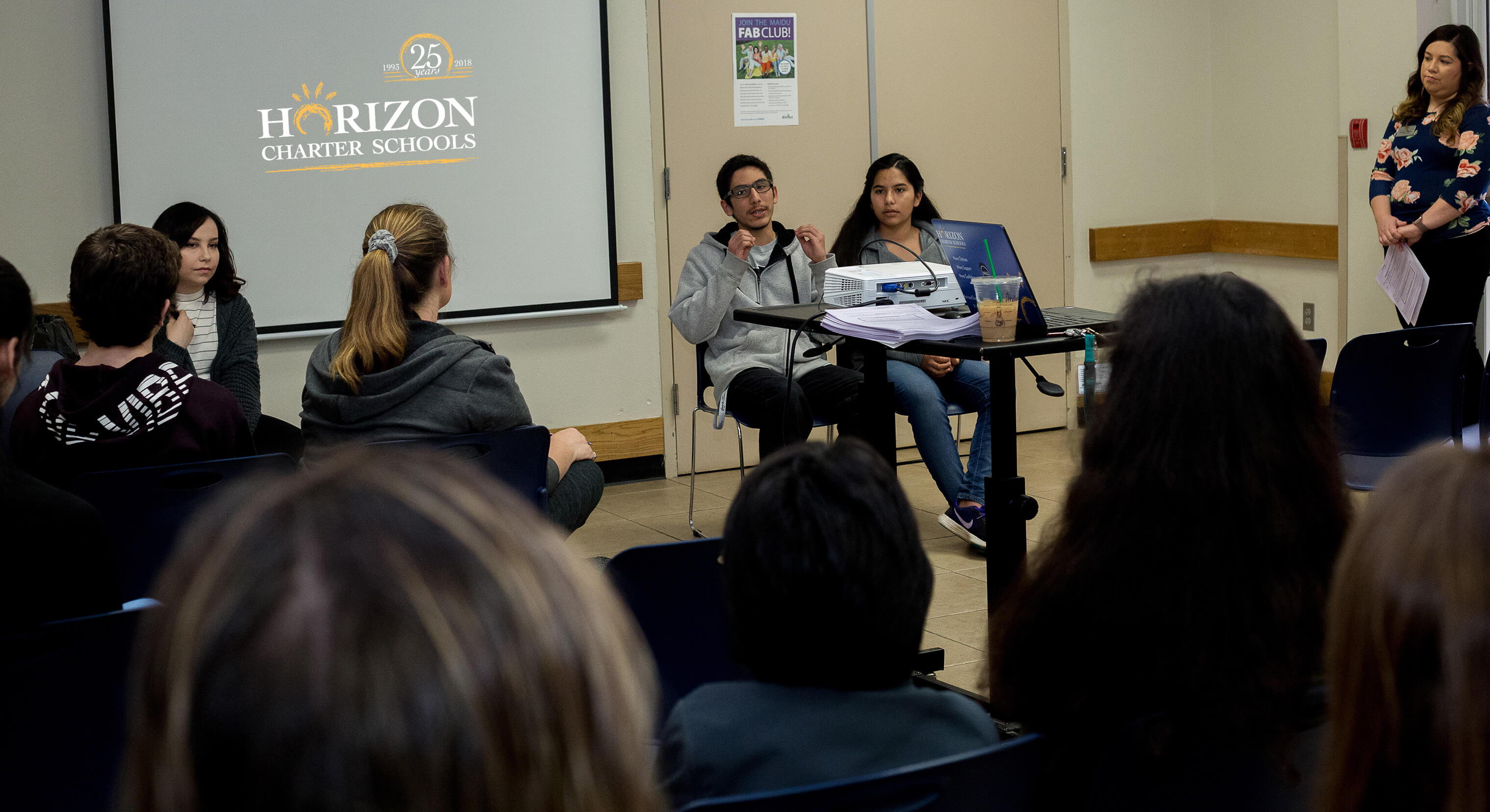 University presentation at Horizon Charter Schools' College and Career Fair