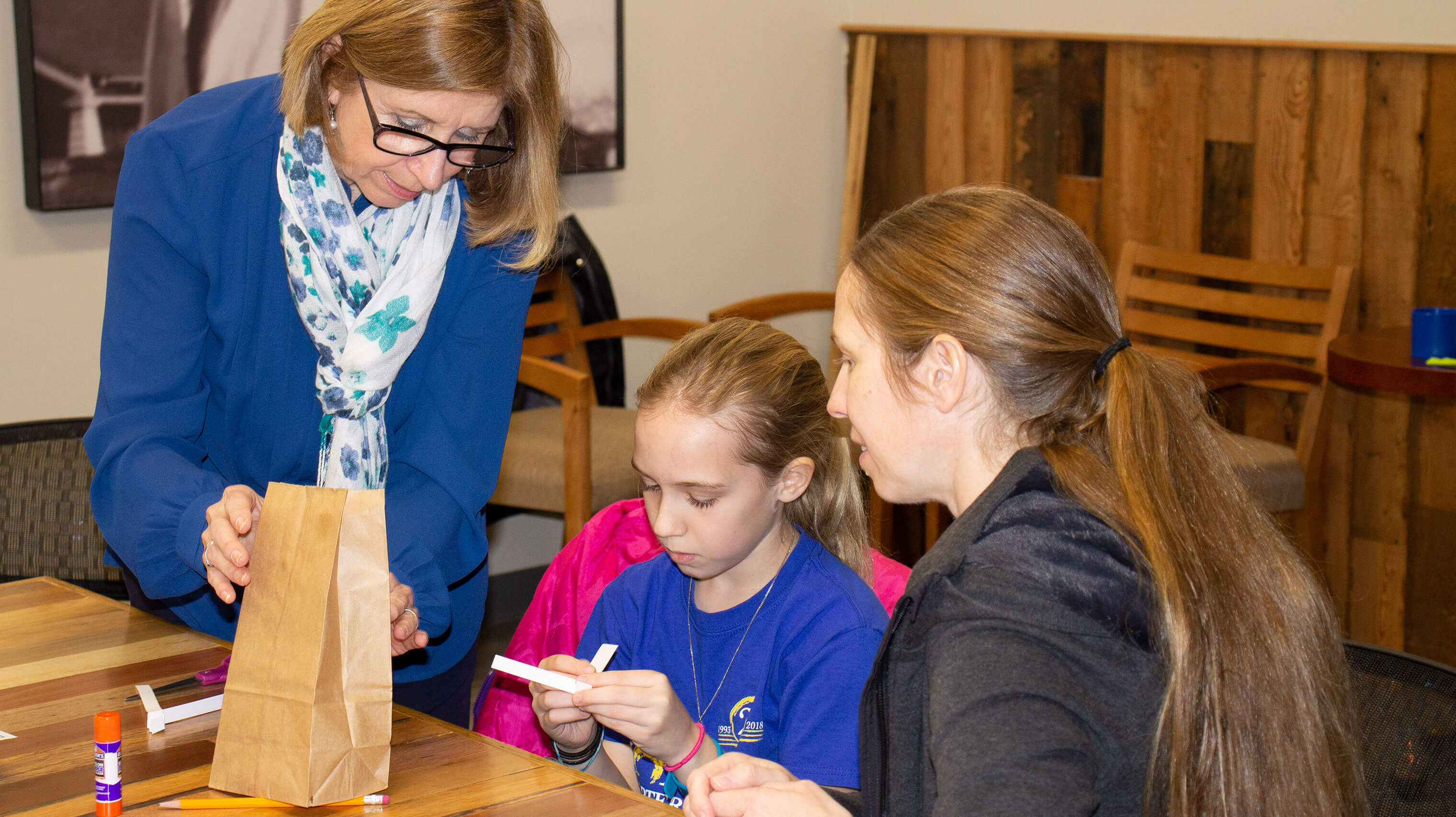 Horizon's Parent Educator works with families at workshops