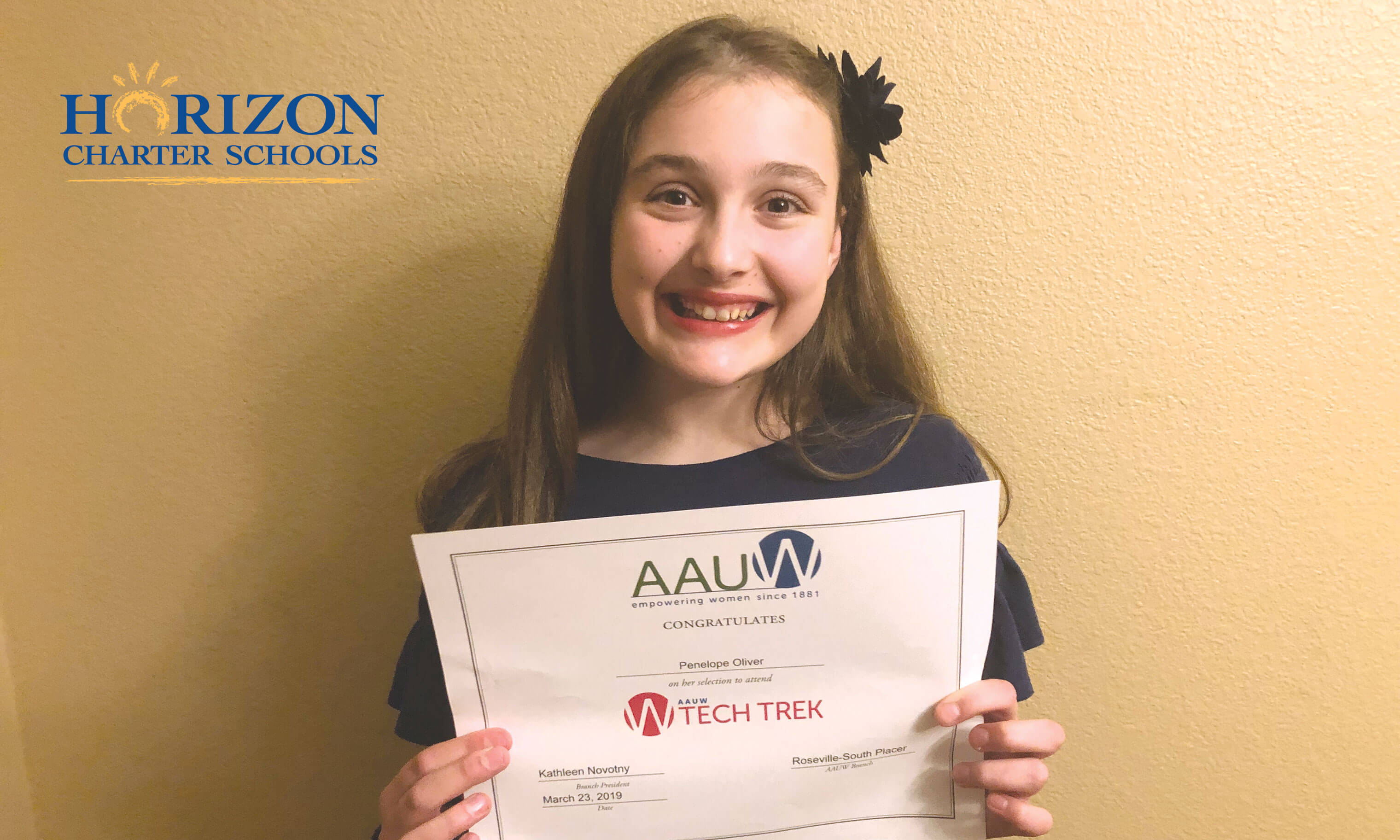 Horizon Student Chosen for AAUW Tech Trek Camp