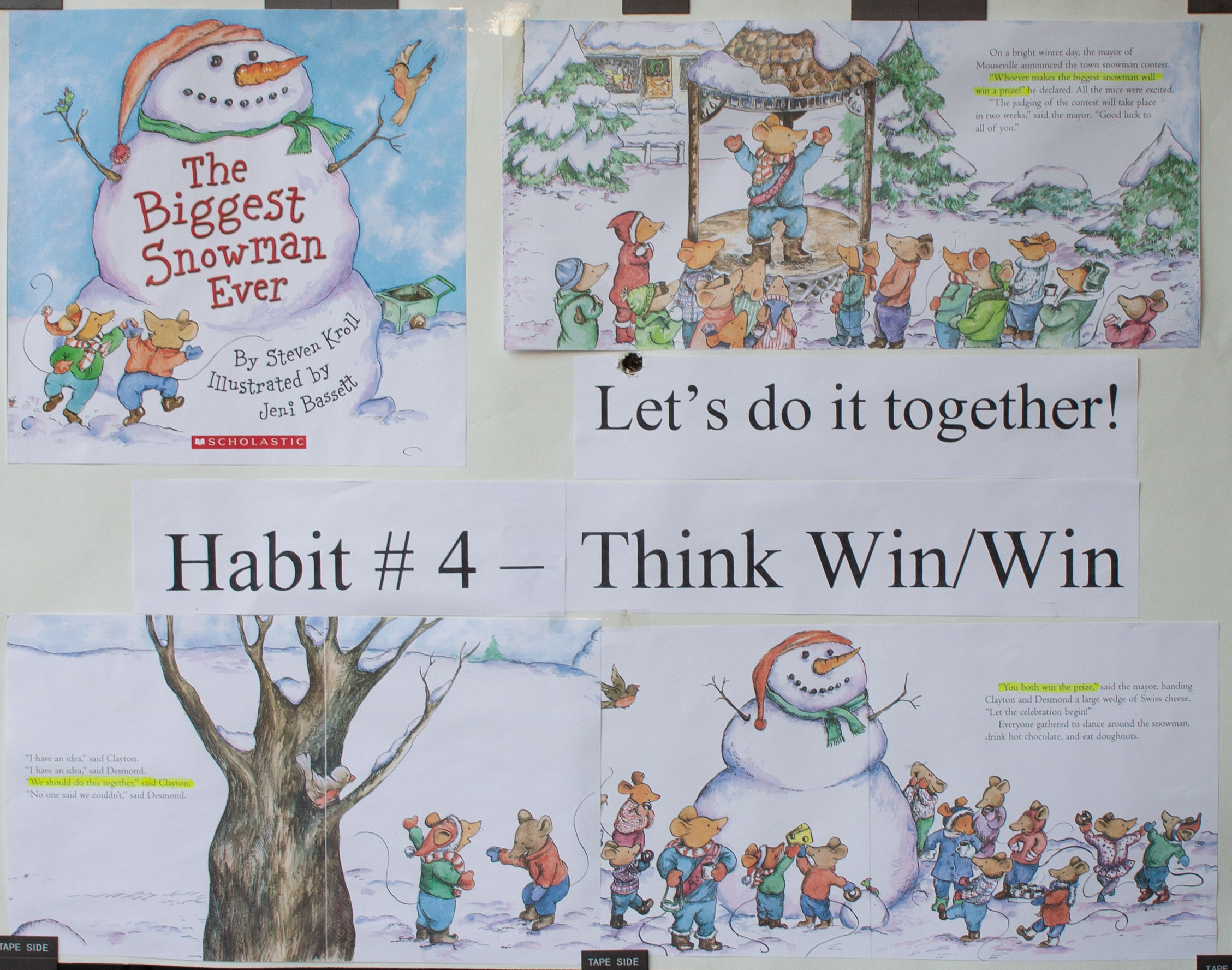 Seven Habits of Highly Effective Students Poster at Lincoln Montessori