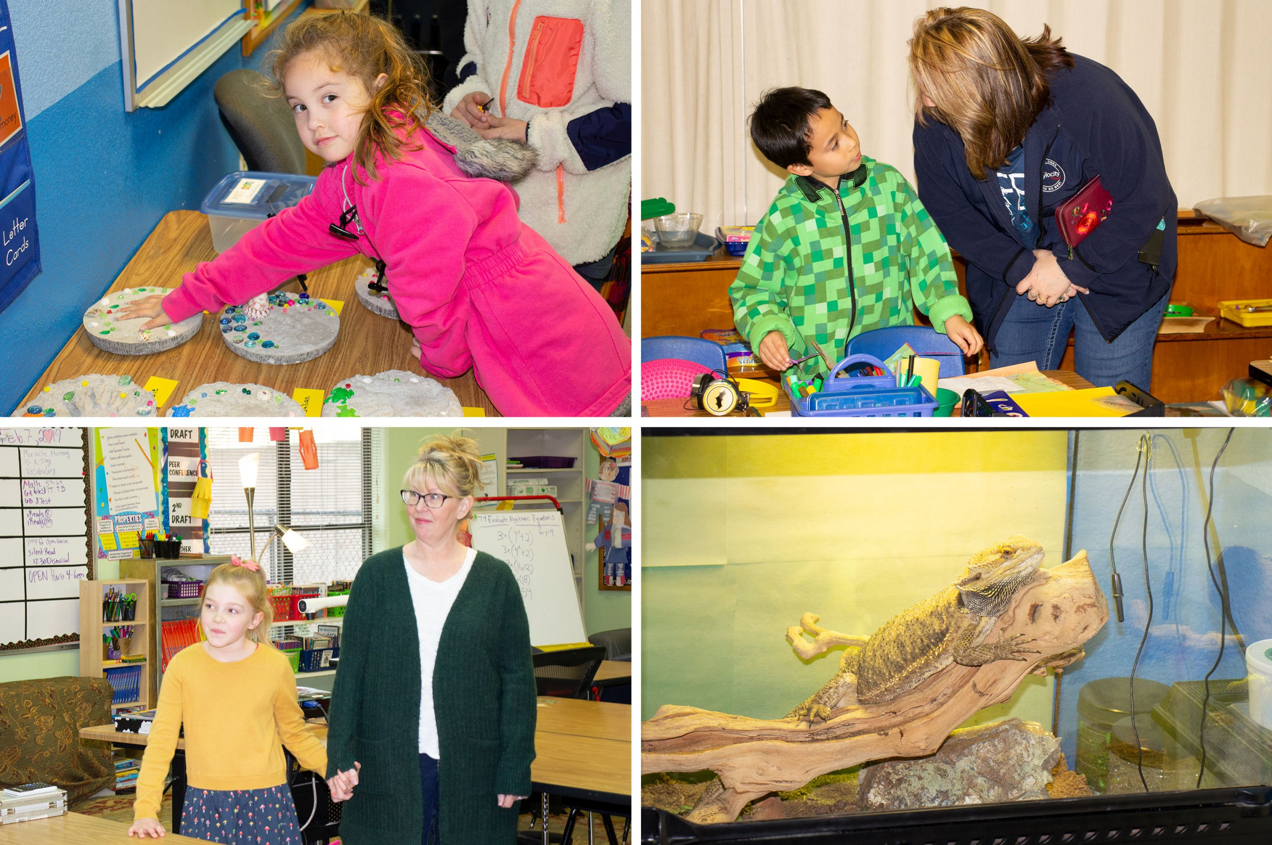 Some of the activities from Lincoln Montessori's 2019 Open House