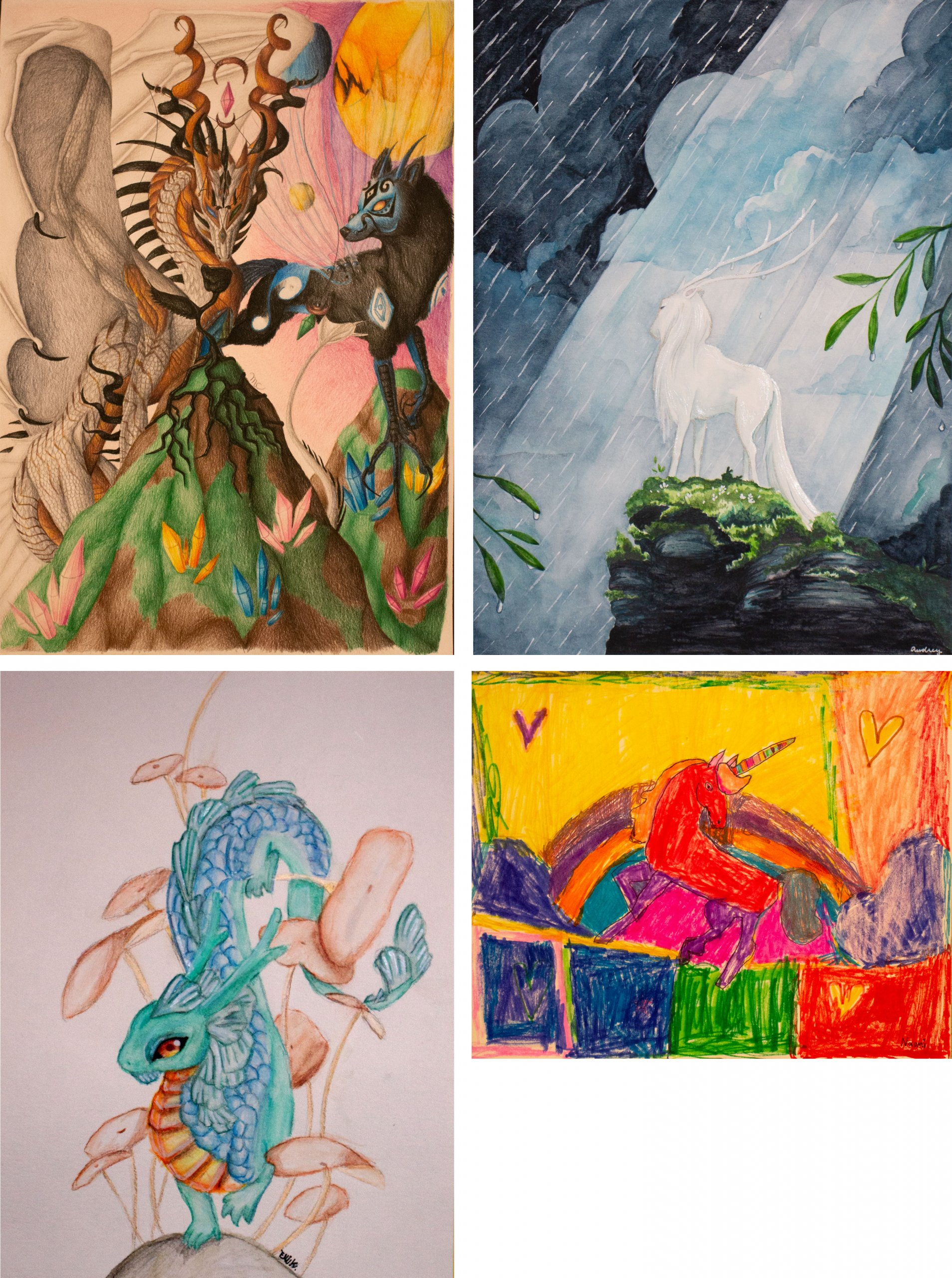 Horizon art contest winners in the 7th-9th grade category