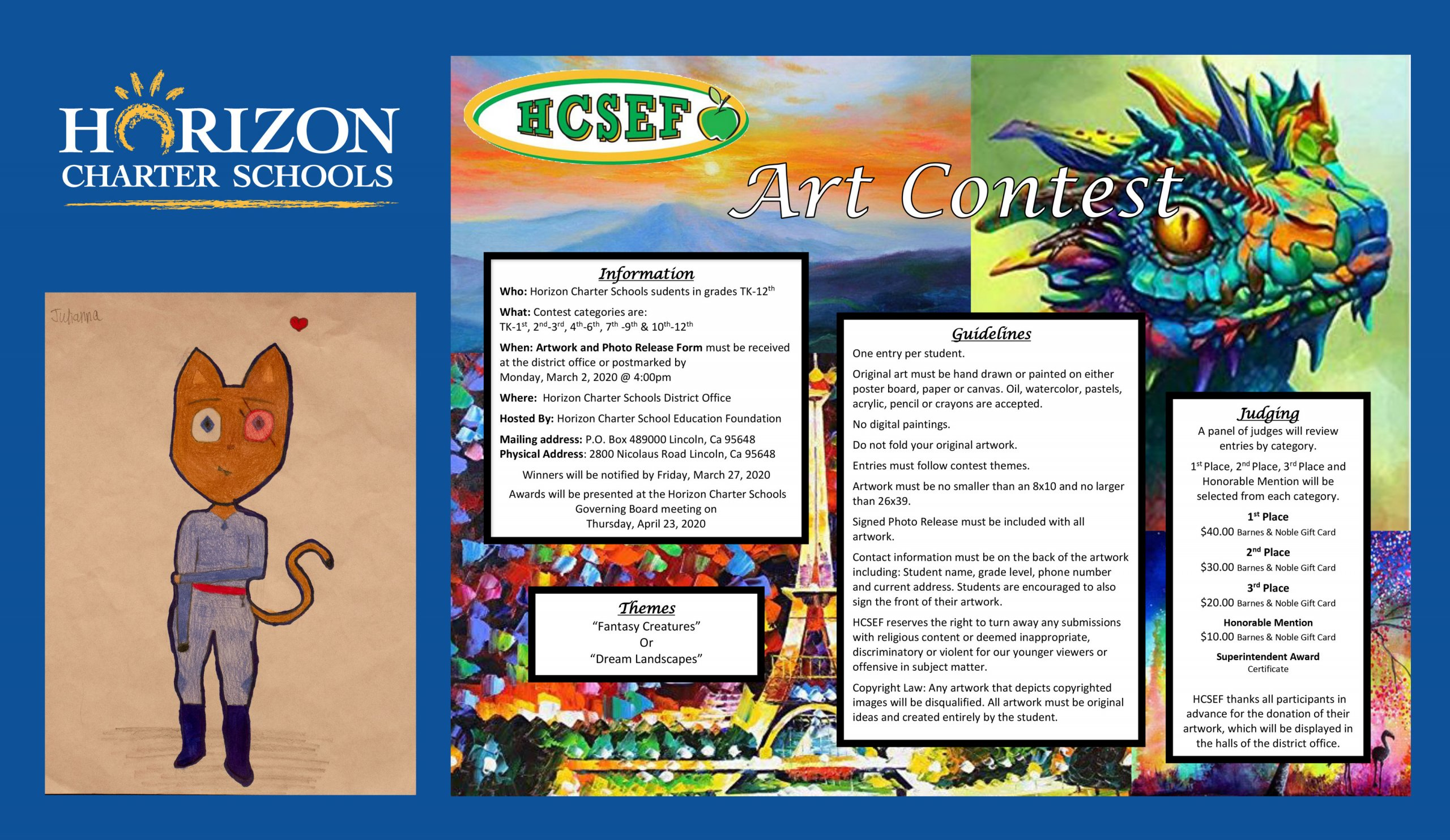 Horizon Charter Schools Education Foundation Student Art Contest