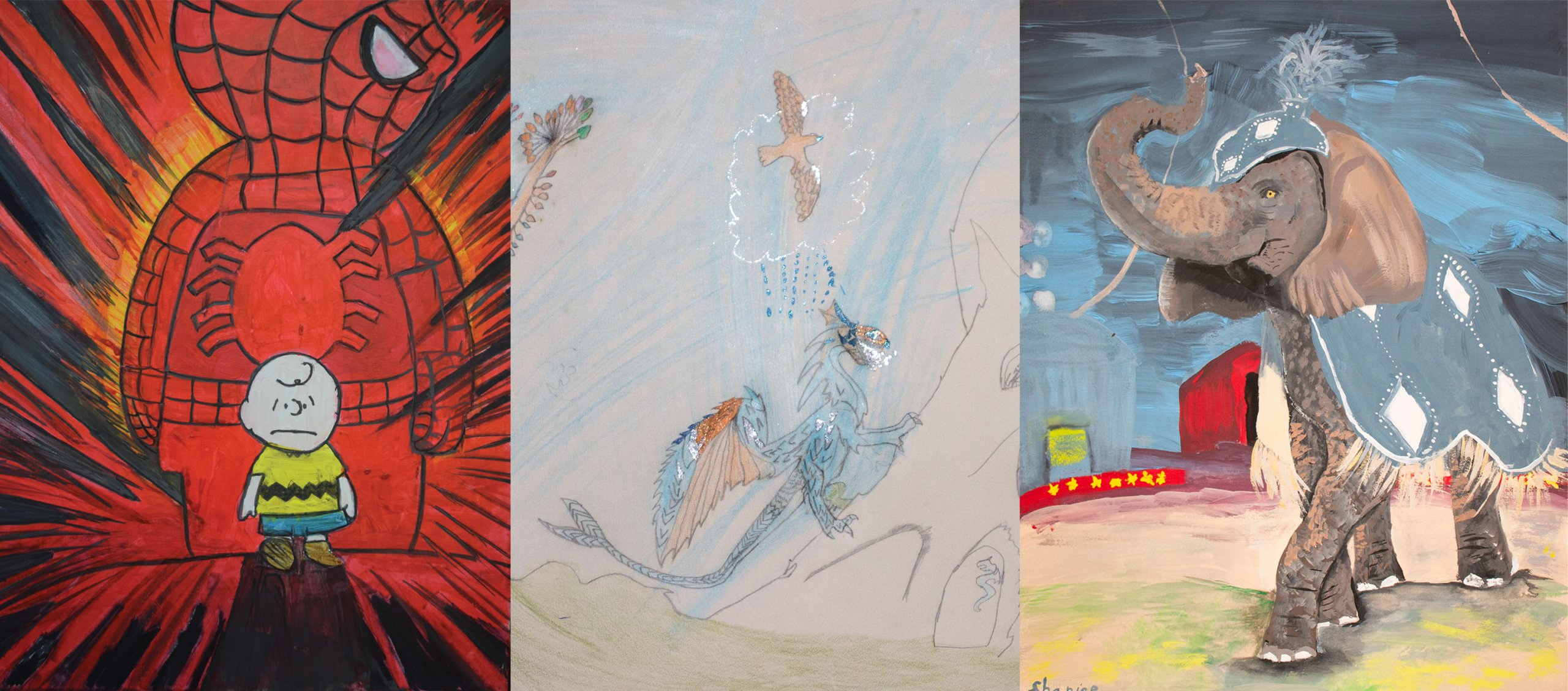 Drawings from past HCS Student Art Contest winners