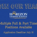 Multiple Full and Part Time Positions Available